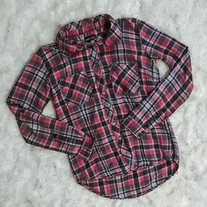 Red, White and Blue Plaid Flannel